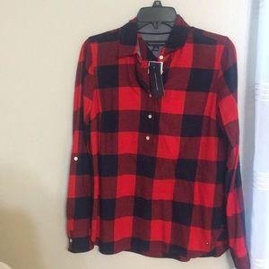 Tommy Hilfiger patterned shirt.
